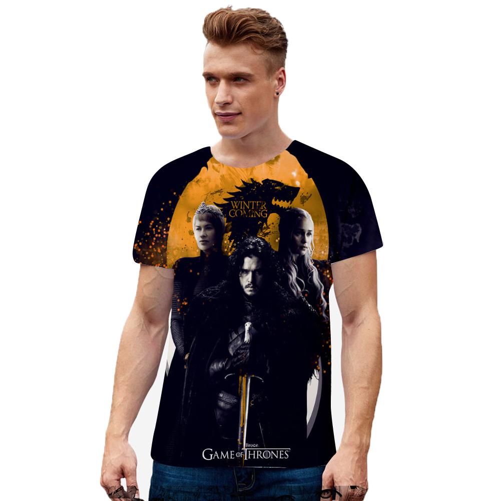 Men Women Summer Game of Thrones 3D Printing Short Sleeve T Shirt 8_XXL