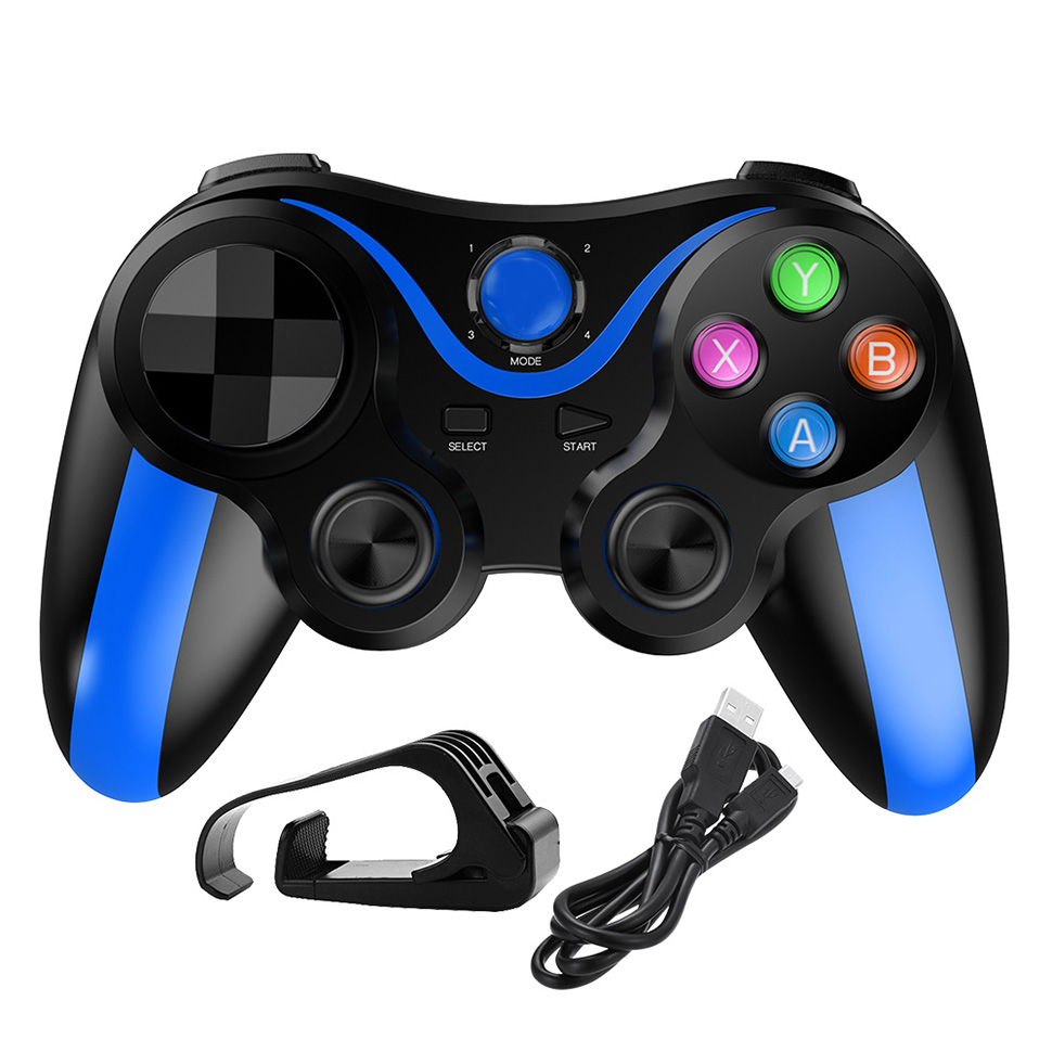 Phone Gamepad Game Wireless Bluetooth Controller Joystick for Xiaomi Redmi PS3 Phone PC Players blue
