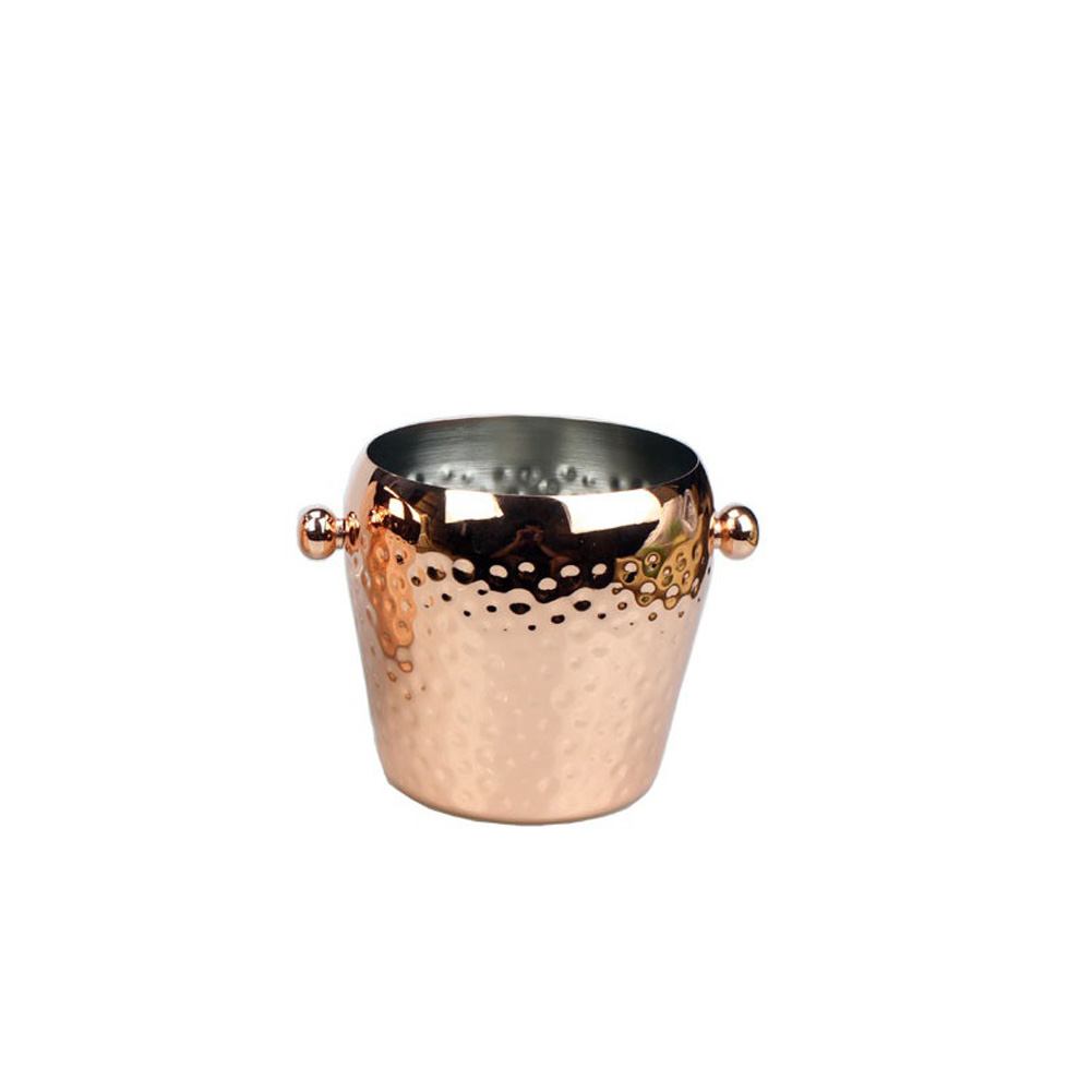 Stainless Steel Hammered Ice Punch Bucket Wine Beer Cooler Champagne Cooler for KVT Bar Party 2L