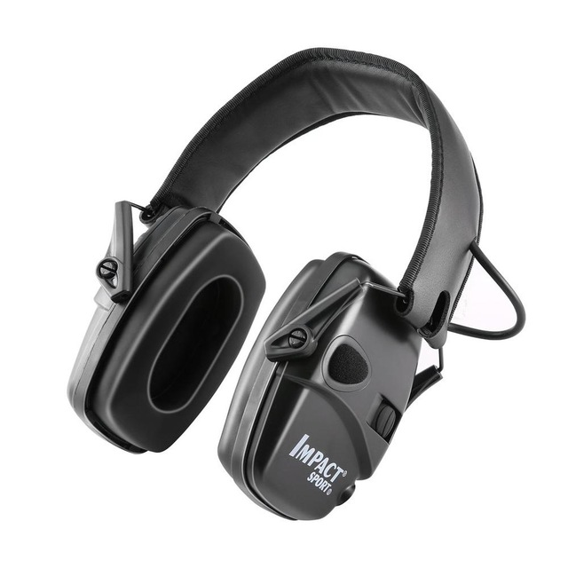 1 Pair Of Sports Headset Noise Reduction Earmuffs Hearing Protection Professional Headphones black