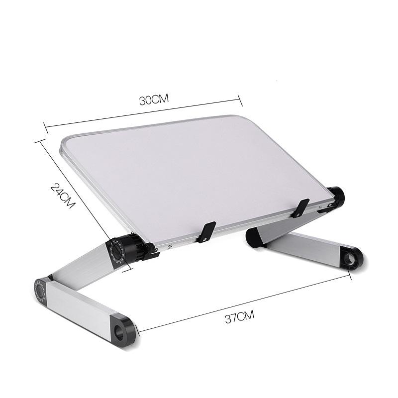 Aluminum Alloy Laptop Portable Foldable Adjustable Laptop Desk Computer Table Stand Tray Notebook PC Folding Desk Table Standard white