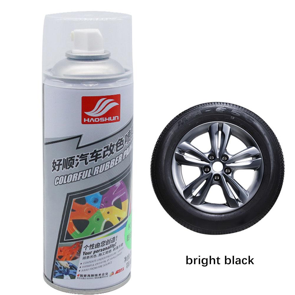 Auto Wheel Spray Film Car Tire Color Change Wheel Hub Paint Bright black