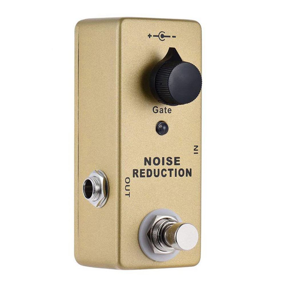 Electric Guitar Effector Noise Reduction Metal Effector with LED Golden