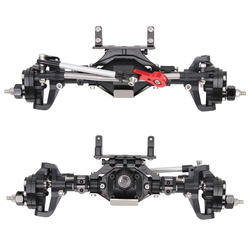 SCX10 Aluminum CNC Anodized Full Front Rear Portal Axle for 1/10 RC Crawler Car Axial SCX10 II 90046 90047 black