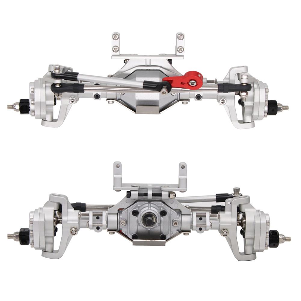 SCX10 Aluminum CNC Anodized Full Front Rear Portal Axle for 1/10 RC Crawler Car Axial SCX10 II 90046 90047 Silver
