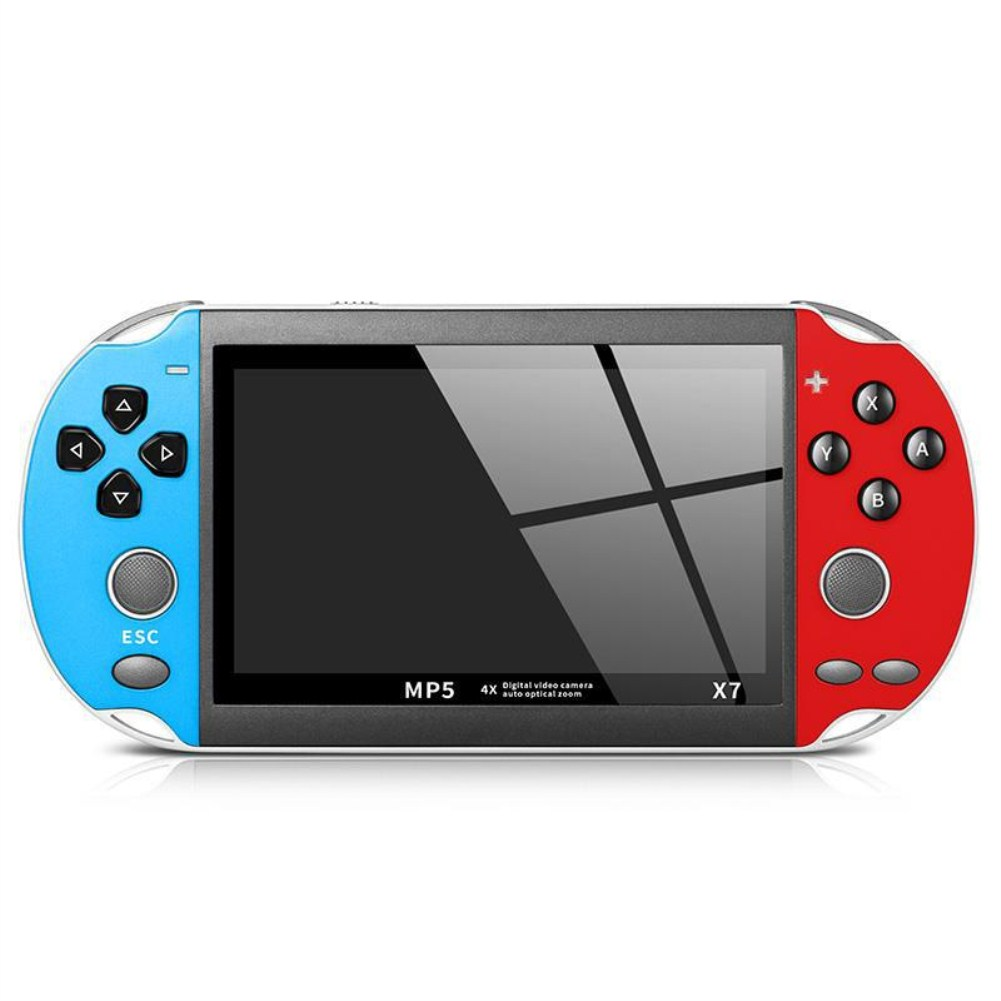 X7 Handheld Game Console for PSP Double Rocker Game Machine 4.3 Inch Left blue right red