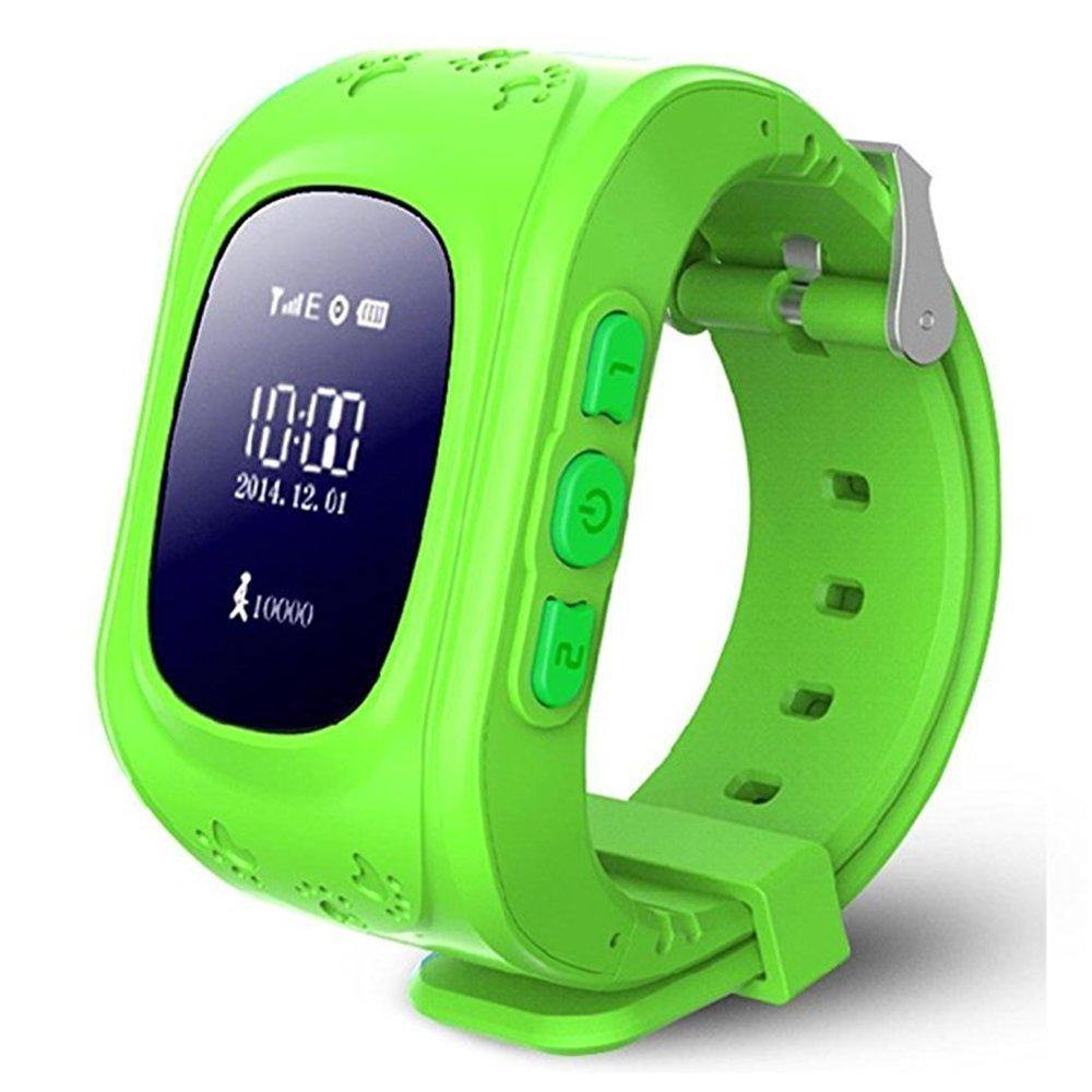 Kids Smart Watch Girls Boys Digital Watch with Anti-Lost SOS Button GPS Tracker Smartwatch  green
