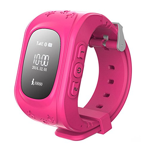 Kids Smart Watch Girls Boys Digital Watch with Anti-Lost SOS Button GPS Tracker Smartwatch  Pink