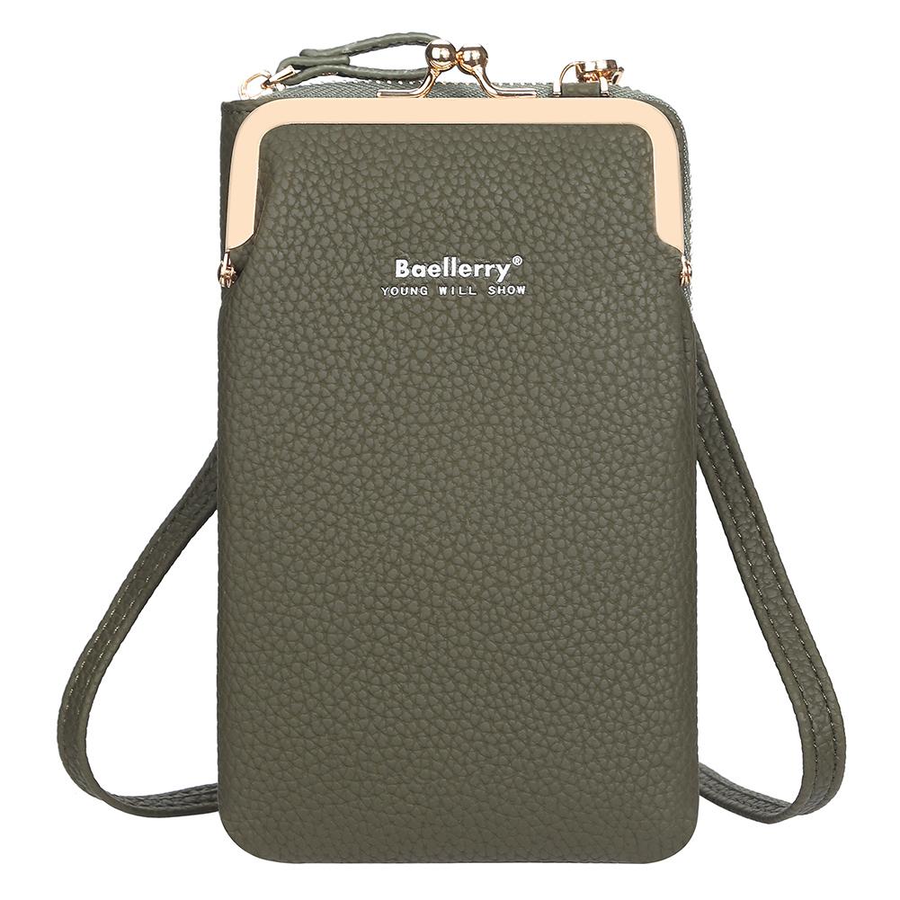 Women Satchel Crossbody Bag Mini PU Leather Shoulder Messenger Bag for Girls Phone Purse green