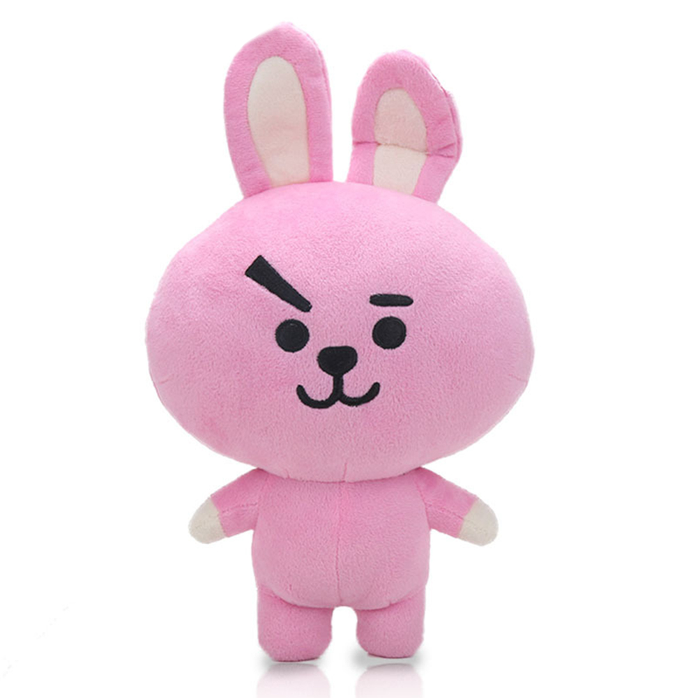 Kpop BTS BT21 Bangtan Boys Plush Cushion Stuffed Toy Dolls TATA COOKY CHIMMY SHOOKY MANG KOYA Pink rabbit 33cm