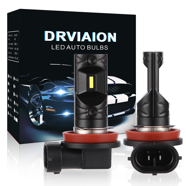 2PCS H11/H8/H9 80W 6500K LED Fog Light Bulbs Car Driving Lamp White light_V5CSP-H11
