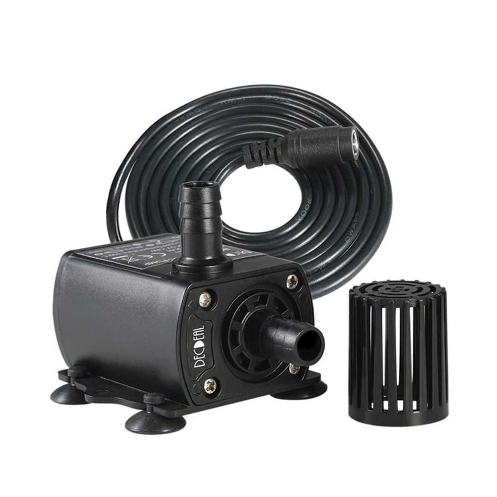 Mini Submersible  Pump 12V 6W Quiet Brushless Waterproof Aquarium Circulator DC12V QR50C