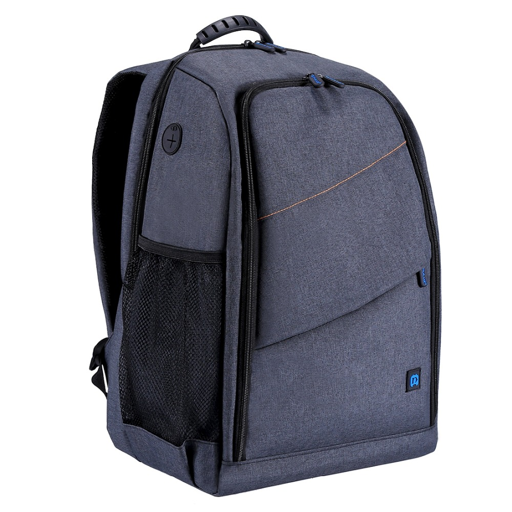 PULUZ Outdoor Portable Waterproof Scratch-proof Dual Shoulder Backpack Camera Bag Digital DSLR Photo Video Bag  gray