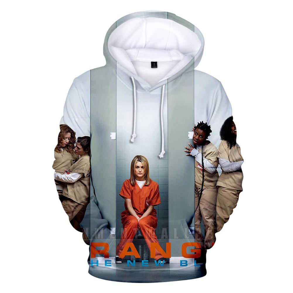 Couple Women Men American Drama Orange Is the New Black 3D Printing Hoodie Tops 3#_2XL