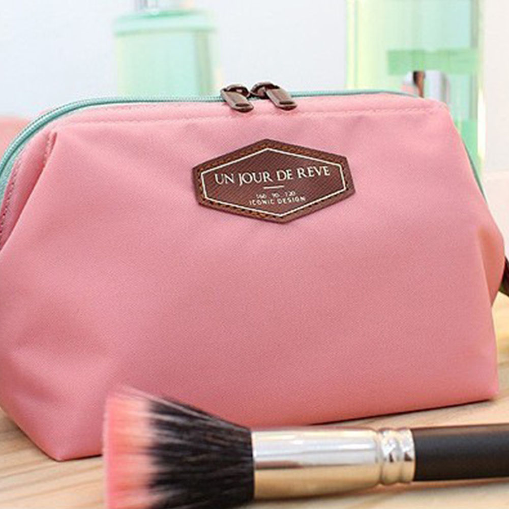 Multifunctional Small Travel Case Toiletry Bag Cosmetic Organizer Storage Bag Pouch Pocket Pink