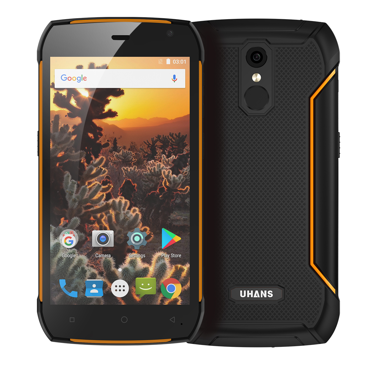 Uhans K5000 Rugged Android Phone (Orange)