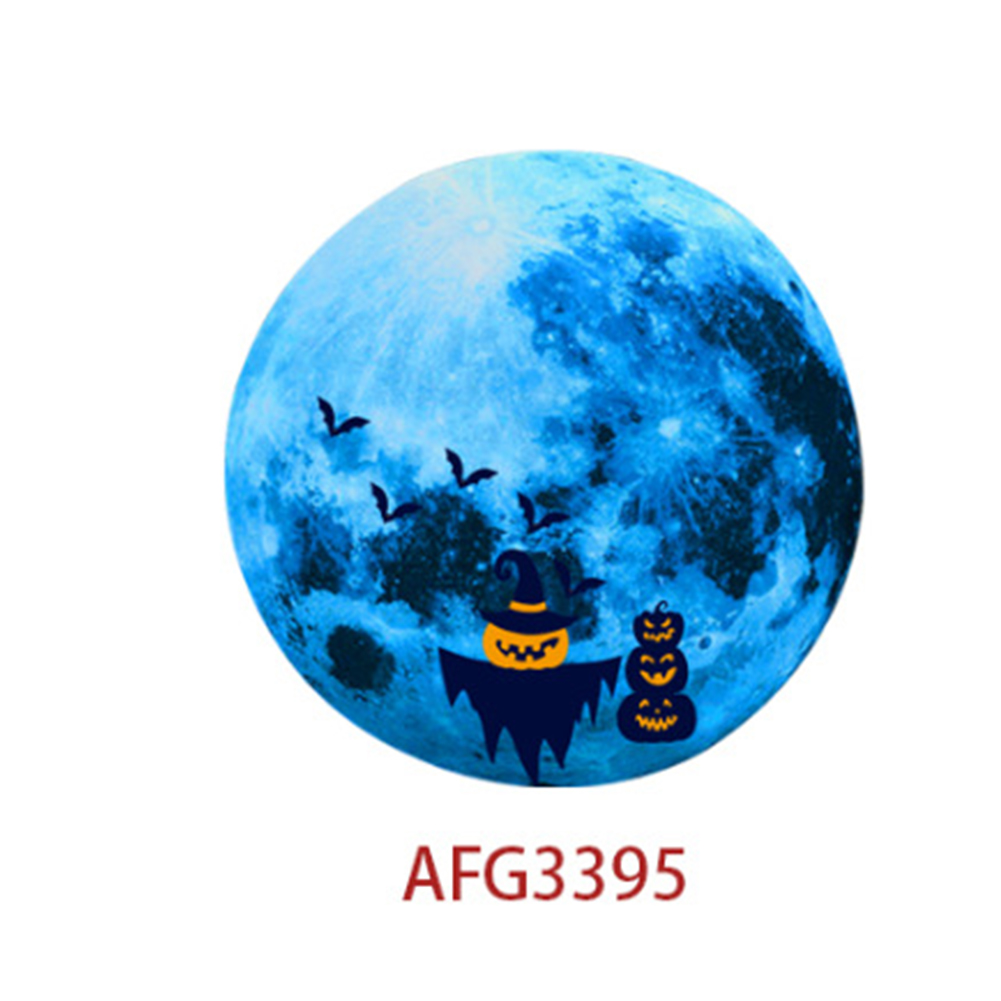 Luminous Blue Moon Wall Sticker Living Room Bedroom Decoration Glow In The Dark Wall Stickers 15G Scarecrow