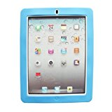 1PC New White Back Hard+Soft Rubber Dual Layer Hybrid Case Cover For iPad 2 3 4 Sky Blue
