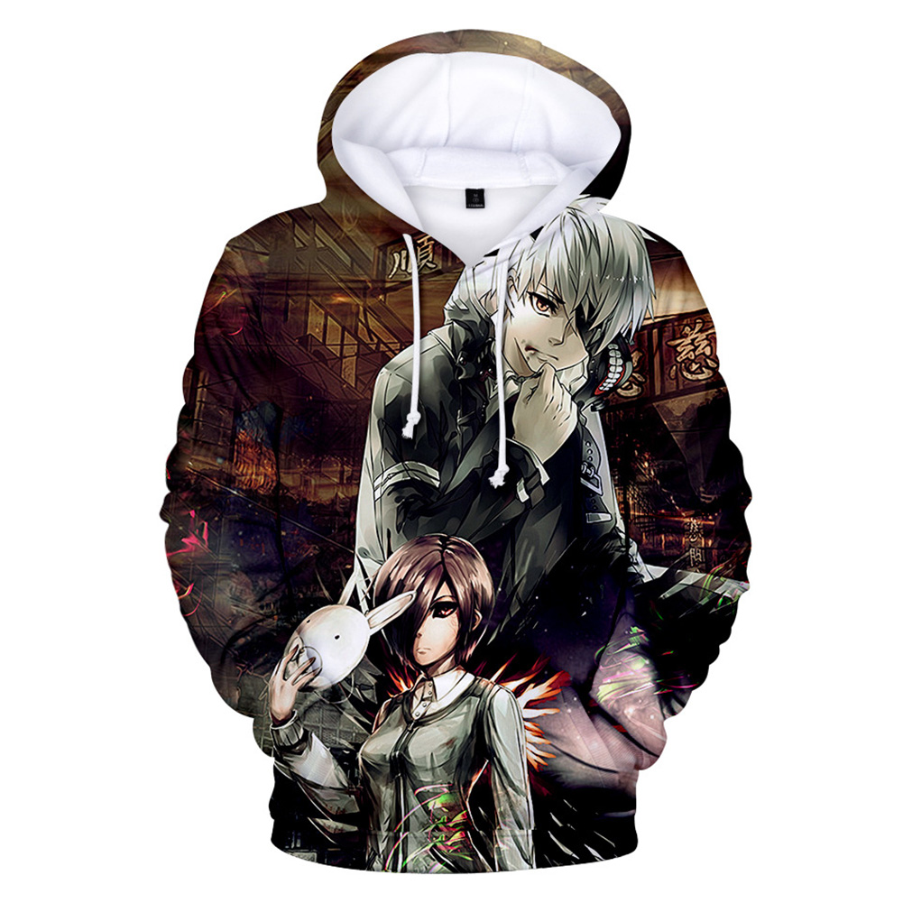 3D Women Men Fashion Tokyo Ghoul Digital Printing Hooded Sweater Hoodie Tops A_XXXL