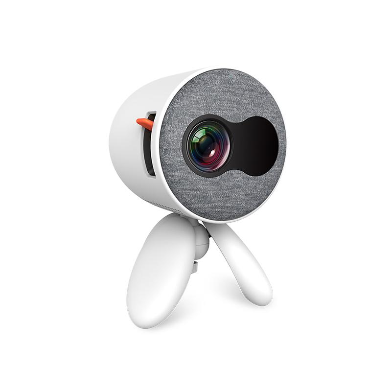 Mini Projector Kids 1080P High Definition LED Home Projector Portable white_EU Plug