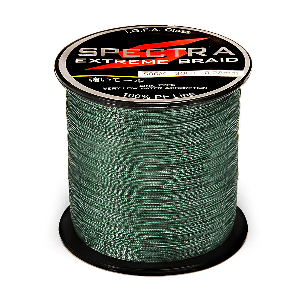 100%PE Fishing Line - Blackish Green 0.50MM