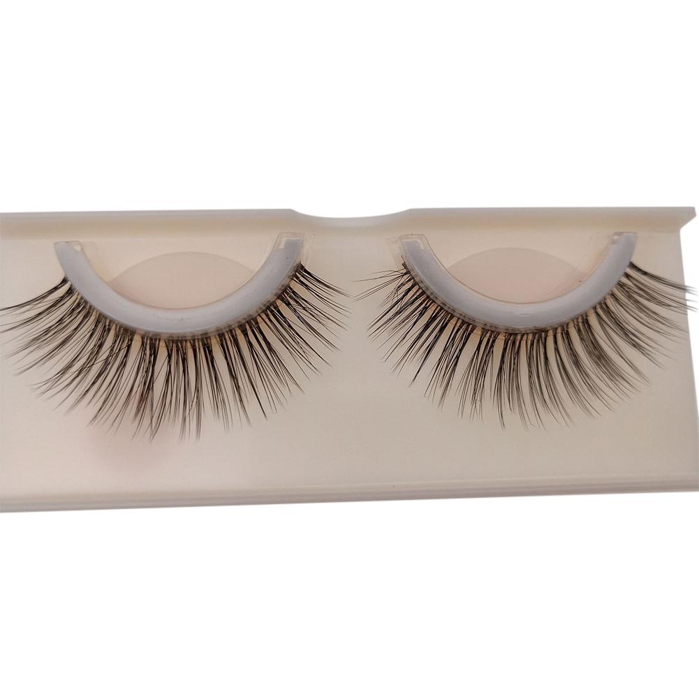 2 Pcs Glue-free 3D Mink Hair False Eyelashes Beauty Supplies