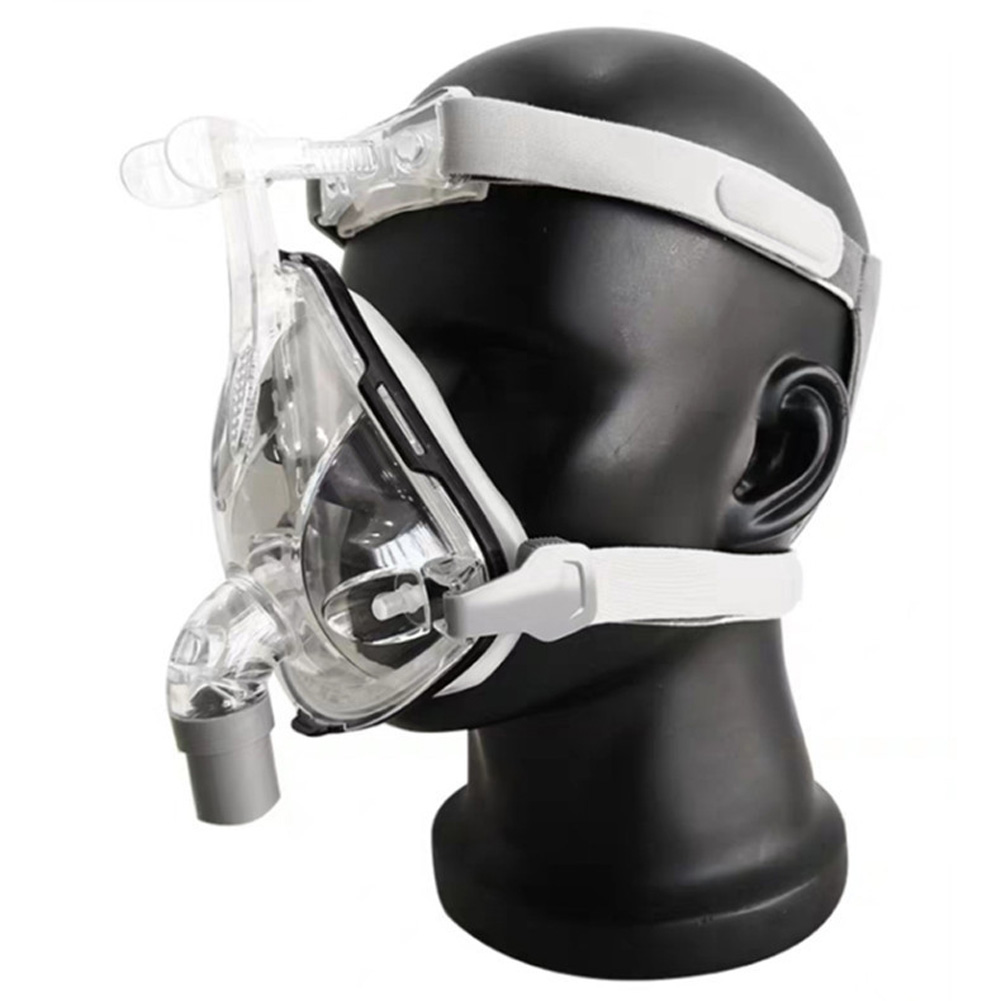Universal CPAP Face Mask Silicone Respirator Ventilator Mask with Headgear L (large)