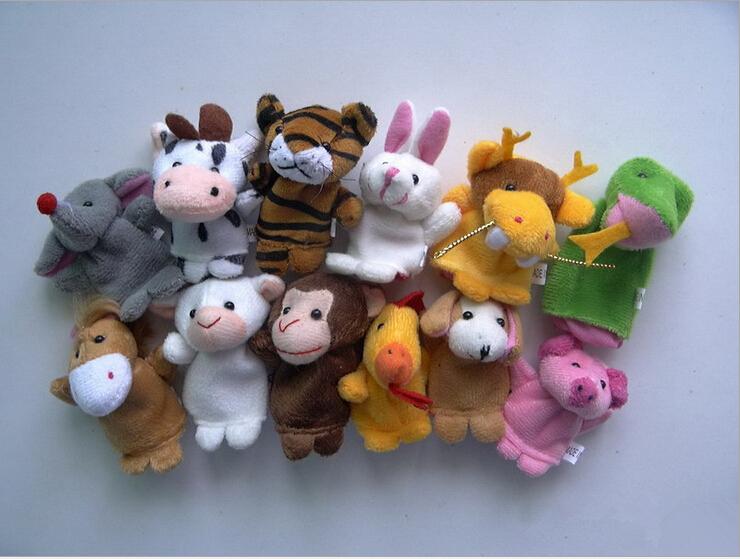 [EU Direct] Finger Puppets Finger toys,Danibos 12pcs Velvet Small animal in garden Baby Stories Helper, Finger Puppets Finger Toys Set ,Christmas Gift for kids(finger toy) (finger toy(12pcs animal))