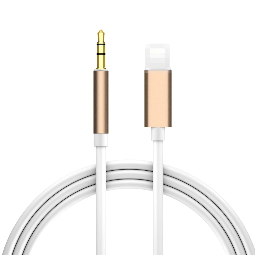 Lighting to 3.5mm Male Jack Aux Audio Extension Cable for 7 8 Plus X XS XR MAX Car Speaker Connector Adapter Cord Gold