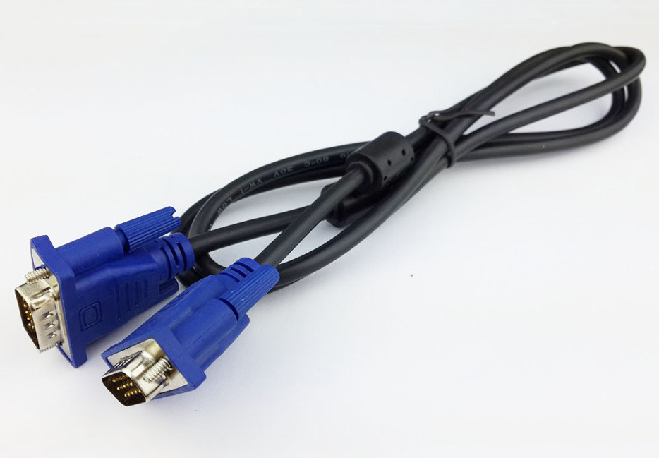 1080P VGA to VGA Cable Male to Male Connector Cable 3+5VGA Cable for HDTV Laptop Projector Display