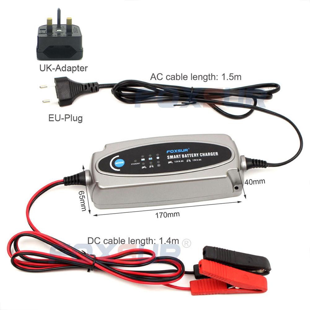 12V 3.6A Or 12V/0.8A Car Motorcycle Battery Charger Ac Input 100-240v Eu Uk Us Plug EU Plug