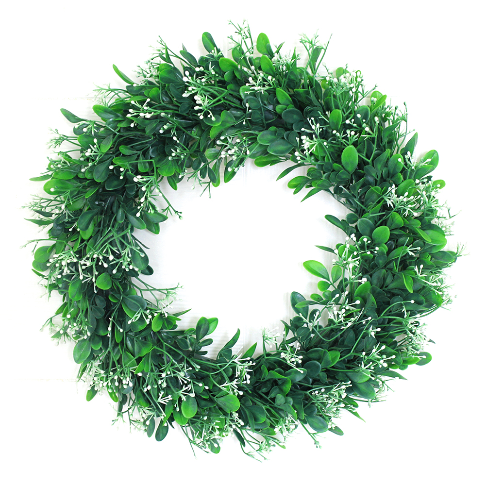 Simulate Leaf Wreath Pretty Garland Floriation Hanging Pendant Decoration for Door Wall   Outside diameter 40CM
