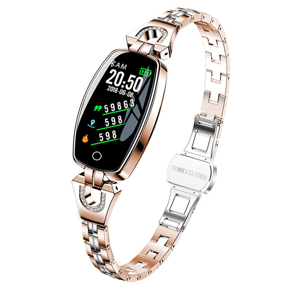 H8 Women Smart Watch Ip67 Waterproof Heart Rate Monitor Bluetooth Sport Fitness Bracelet Ladies Watches Golden