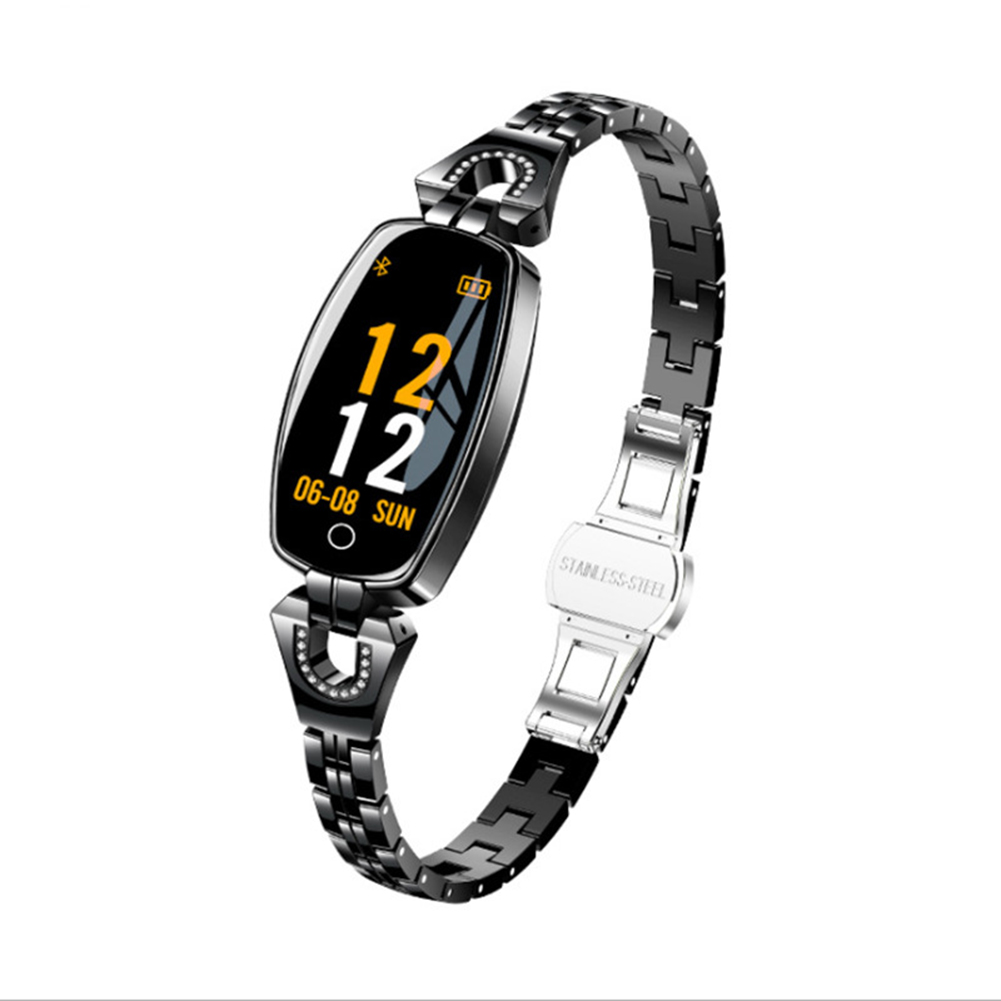 H8 Women Smart Watch Ip67 Waterproof Heart Rate Monitor Bluetooth Sport Fitness Bracelet Ladies Watches Black