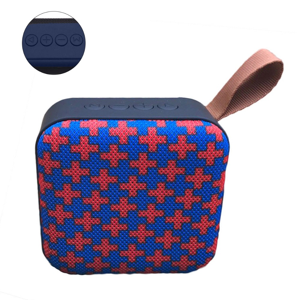 T5 Fabric Wireless Mini Stereo Bluetooth Speaker Outdoor Portable Card Subwoofer Color Red
