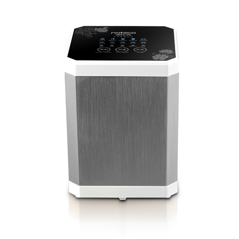 Multi-function Negative Ion Air Purifier Filter Clean Air Desktop Air Cleaner for Home J006 (White + Silver)_150 * 150 * 200mm_U.S. Standard