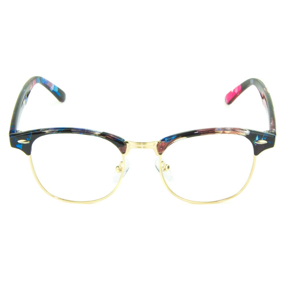[US Direct] Cyxus Anti Blue Light Computer Glasses for Blocking UV Eye Strain Headache, Reading Eyewear (8065T01, Bright Black) Block Droplets Floral Print_M