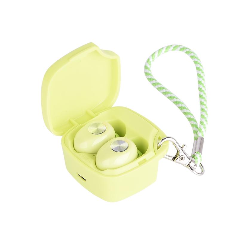 TWS-A8 Mini 5.0 Waterproof 3D Stereo Wireless Bluetooth Earphone for Sports green