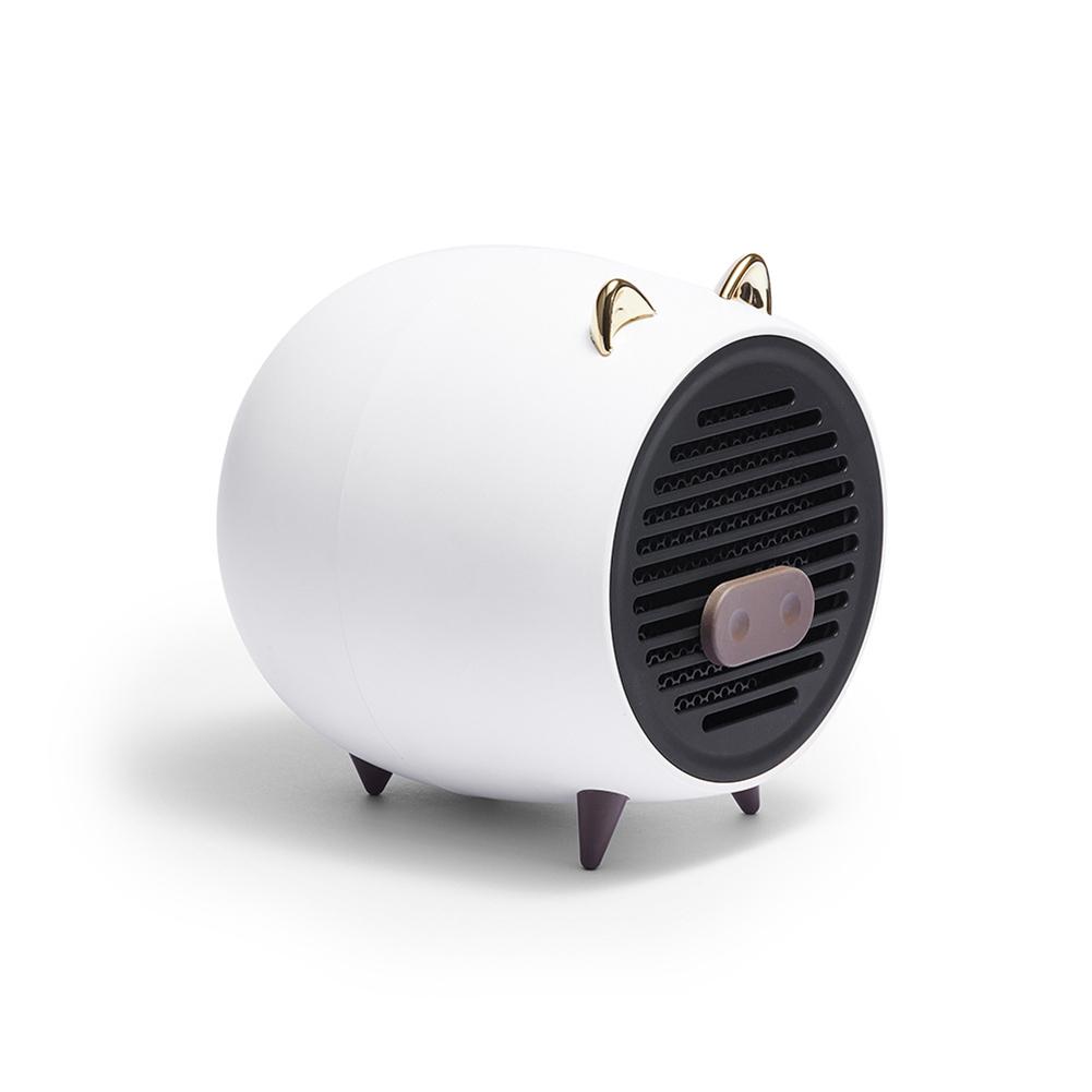 Air Heater Household Mini Desktop Cartoon Pig Shape Heater Fast Heat Silent Electric Heater white