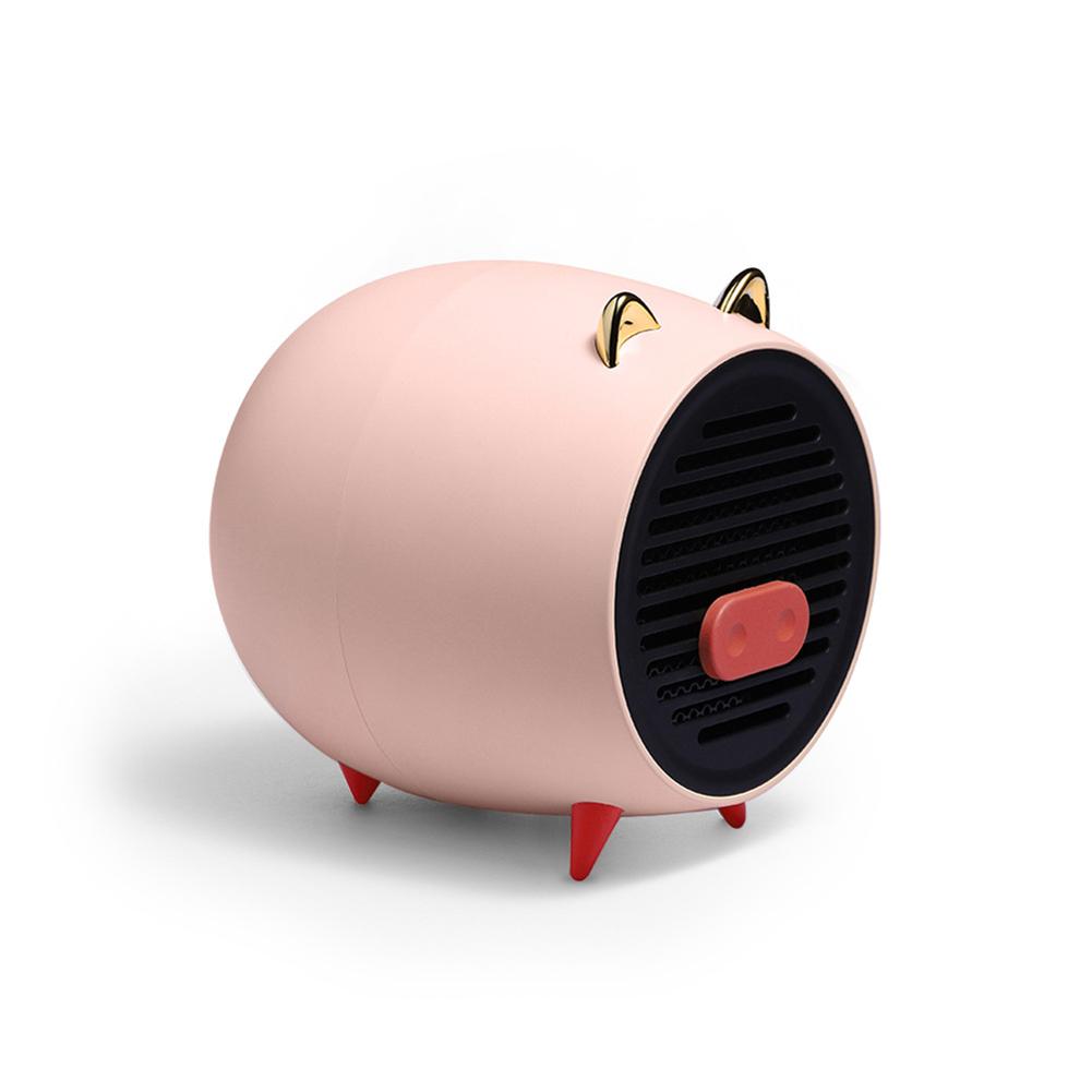 Air Heater Household Mini Desktop Cartoon Pig Shape Heater Fast Heat Silent Electric Heater Pink