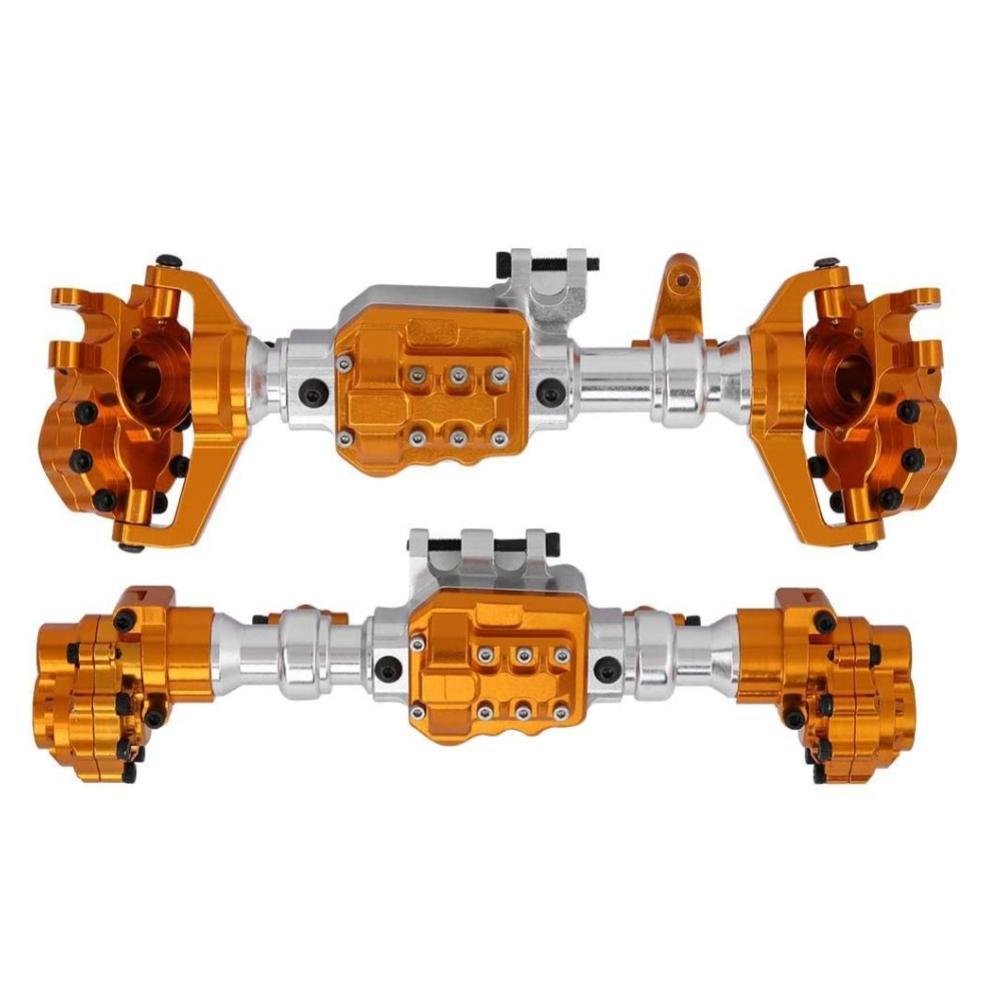 Front And Rear Portal Axle Housing Aluminium Alloy for 1/10 RC Crawler Traxxas TRX-4 gold+silver