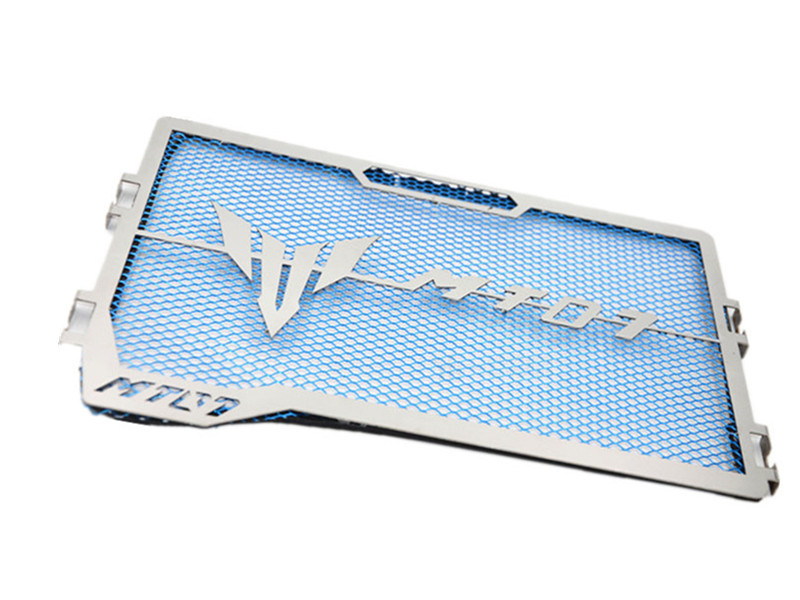 Stainless Steel Motorcycle Radiator Grille Guard for YAMAHA MT-07 MT07 14-18 blue
