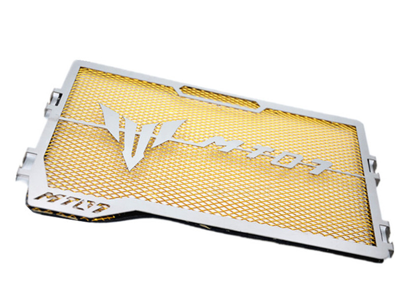 Stainless Steel Motorcycle Radiator Grille Guard for YAMAHA MT-07 MT07 14-18 Gold