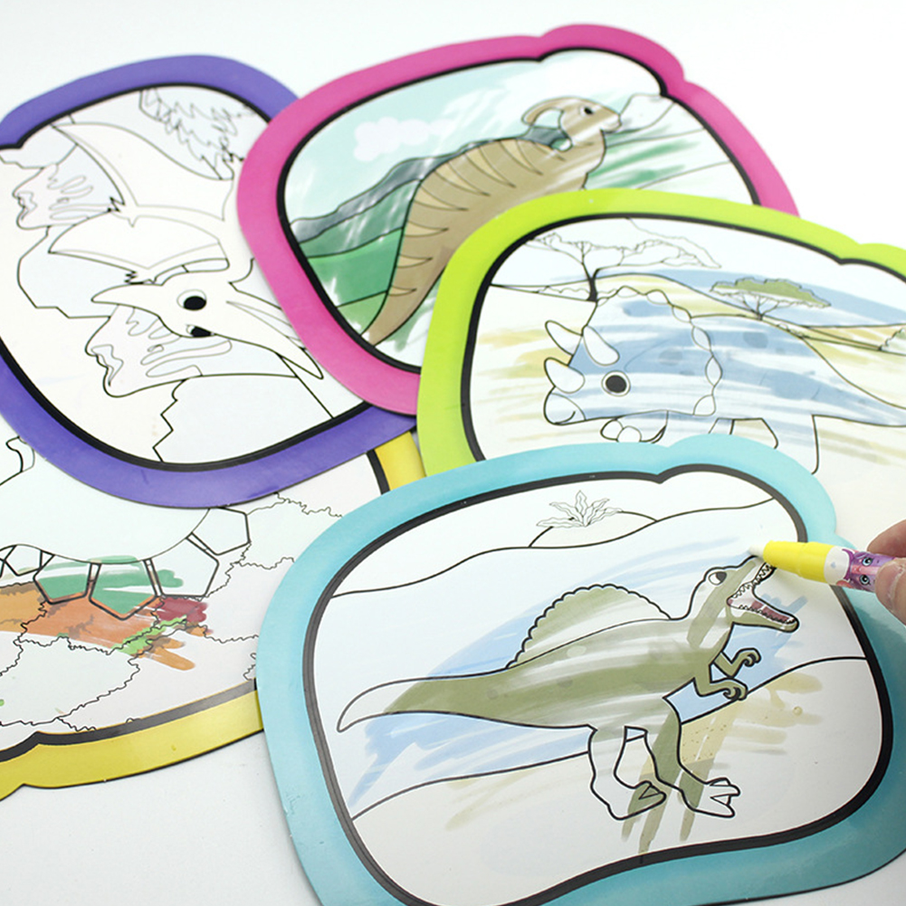 Kids Reusable Water Painting Theme Doodle Album Drawing Toy