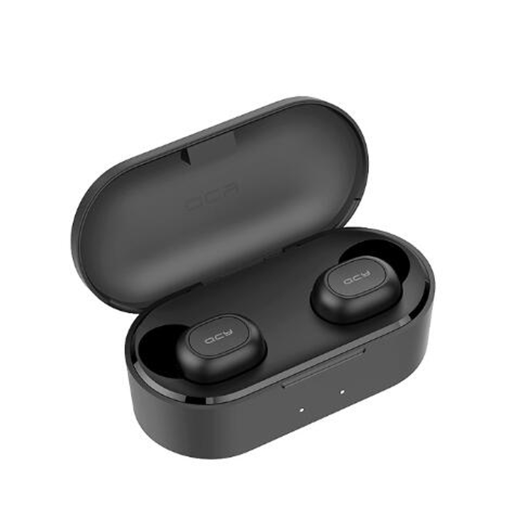 Original QCY QS2 TWS Bluetooth V5.0 Stereo Headphones 3D Wireless Sports Headphones with Dual Microphone black