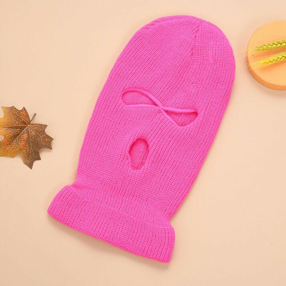 Face Mask Ski Mask Winter Cap 3 Hole Balaclava Hood  Warm Beanie Hat  Three hole deep powder_One size