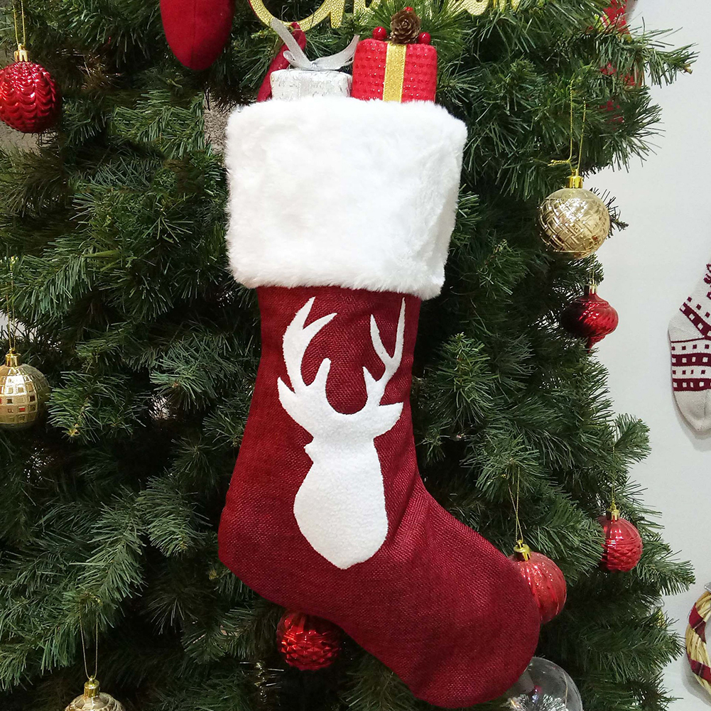 Christmas Gift Socks Christmas Stocking with Hanging Rope  Section A