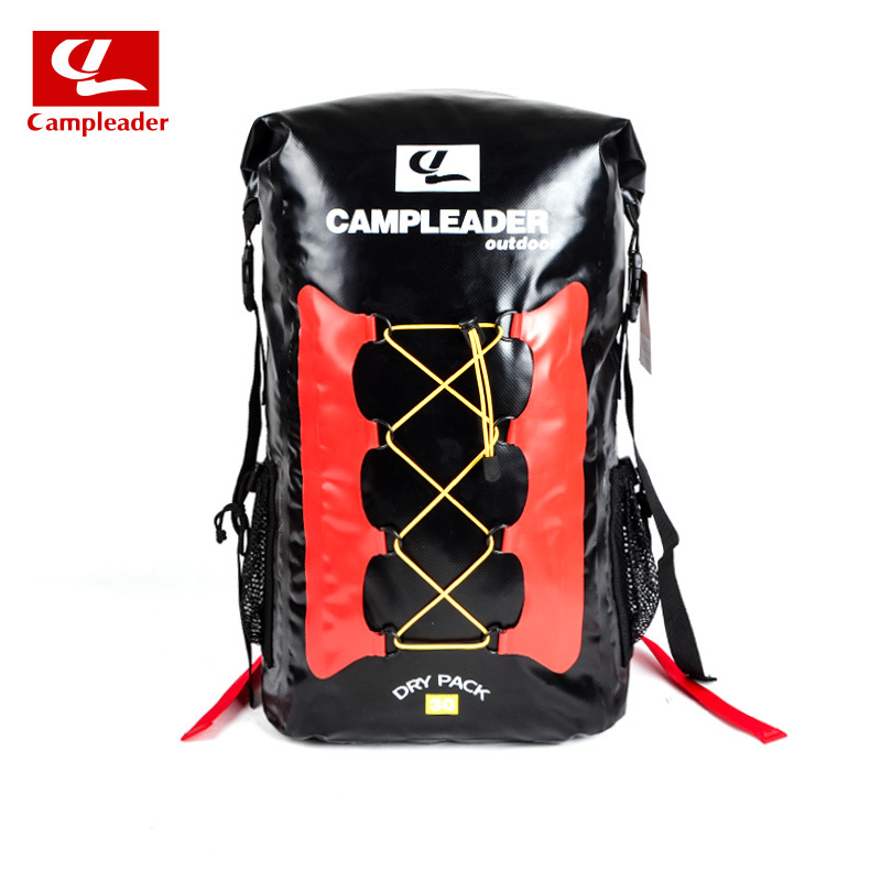 Outdoor Three Color Backpack Swimming Fashing Drifting River Tracing Backpack Airbag black_56*32*20cm