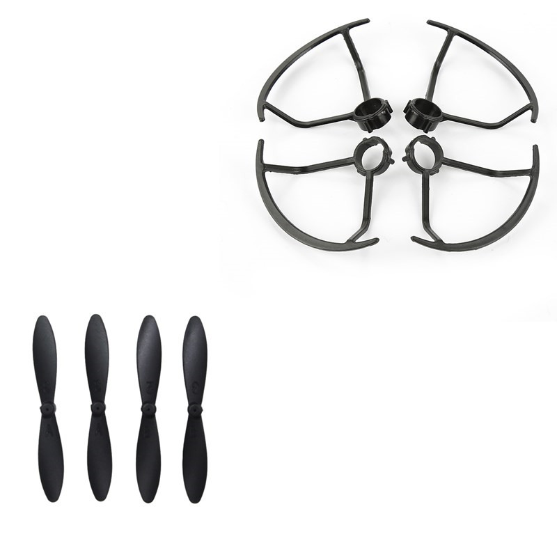 4pcs Blade + 4pcs Propeller Protective Cover for LF606 JD-16 D2 SG800 M11 Quadcopter RC Drones Spare Parts as shown