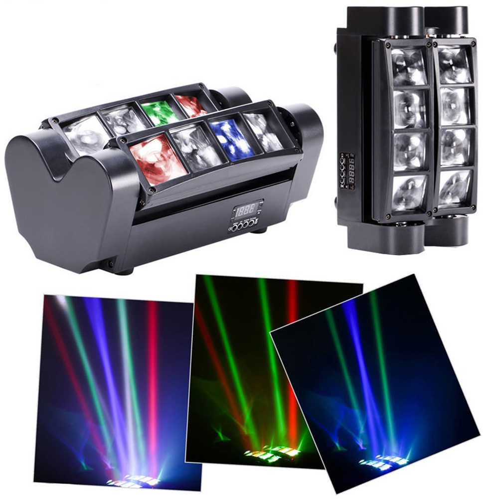 8 LED Sound Sensor Projection Light Colourful Stage Lamp for Club DJ Show Party Ballroom Bands British regulatory